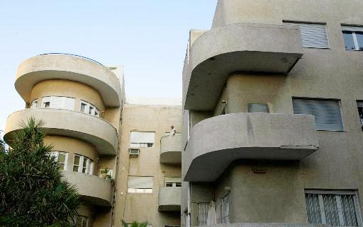 Buildings with distinctive curved balconies on Bialik Street in Tel Aviv (Photo: AP)