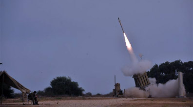 Iron Dome in action (Photo: Avi Roccah)