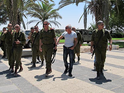 Chief of staff during visit to south (Photo: Ronit Minker)