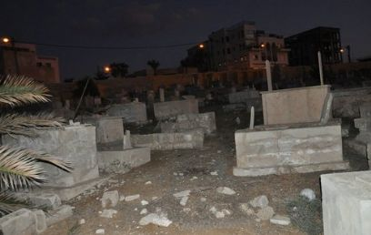 Vandalized cemetery (Photo: Jaffa 48 website)