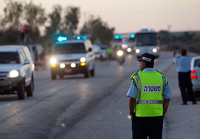 Moving out of Ketziot Prison (Photo: Reuters)
