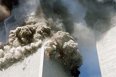 First tower begins to collpase 9/11 (Photo: AP) (Photo: AP)
