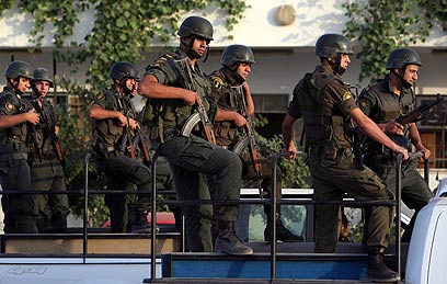 Palestinian police train in Jenin (Photo: AP)