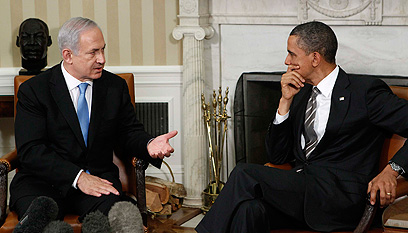 Netanyahu and Obama meeting at the White House (Photo: Reuters) (Photo: Reuters)