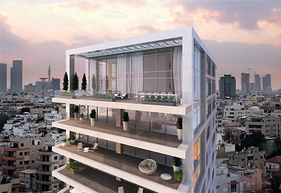Future Hebert Samuel 10 on Tel Aviv promenade (Photo: Ofer Investments)