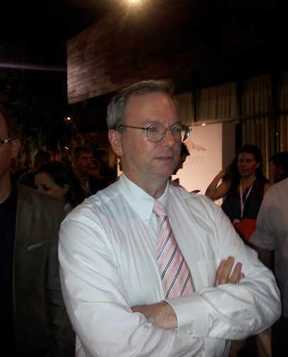 Dr. Eric Schmidt. Discussed how Israeli innovations can contribute to Israel's place in the world (Archive photo: Ehud Kenan)
