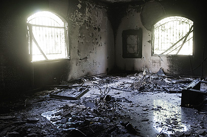 US consulate after attack (Photo: AFP)