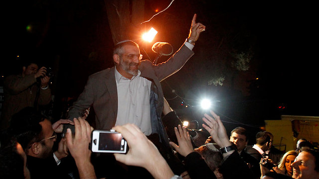 Michael Ben-Ari on the eve of the 2013 elections (Photo: Haim Zach)
