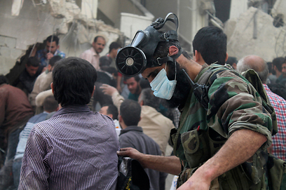 Aftermath of alleged chemical attack in Aleppo (Photo: Reuters)