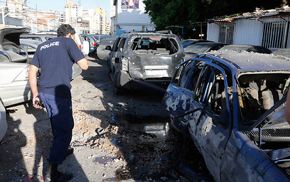 Scene of attack on Hezbollah stronghold in Lebanon (Photo: Reuters)