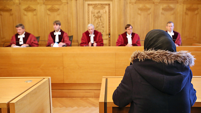 The girl in court (Photo: AFP)