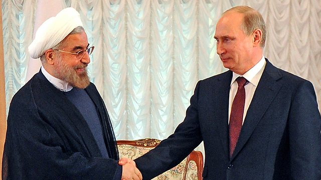 Iranian President Rohani with Russian President Putin, both stepping up support for Assad? (Photo: AFP) (Photo: AFP)