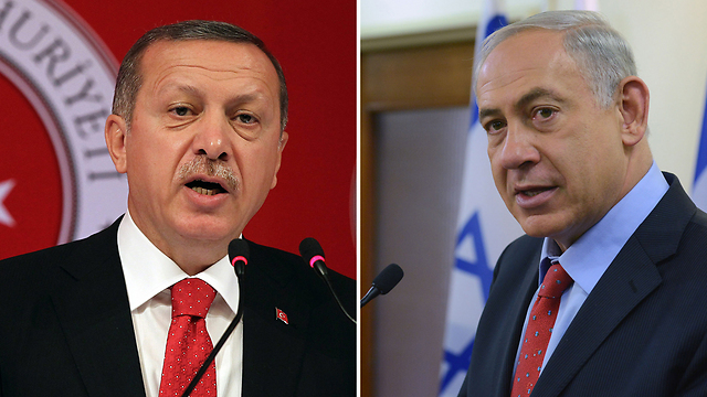 Erdogan and Netanyahu. Turkey and Israel are very close to finalizing their reconciliation deal. (Photo: AP, Kobi Gideon/GPO) (Photo: AP, Kobi Gideon/GPO)