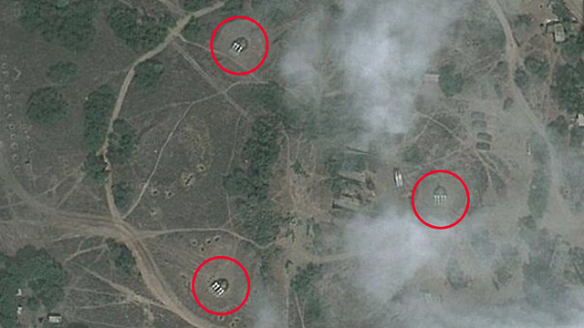 Satellite image of Latakia base after attack (Photo: Google Maps)
