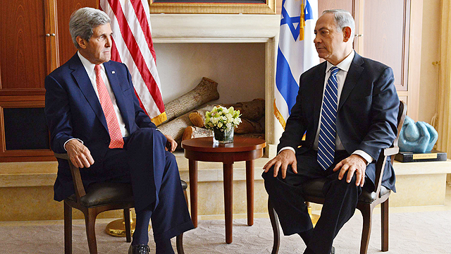 Kerry, Netanyahu meet in Jerusalem (Photo: Kobi Gideon, GPO)