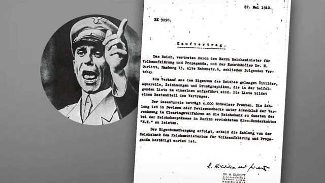 Contract for sale of Jewish-owned artwork by Joseph Goebbels from Bild's report (Photo: Bild) (Photo: Bild)