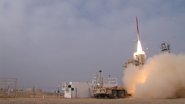 The David's Sling missile defense system. A serious budgetary issue which requires an unusual solution (Photo: Defense Ministry)