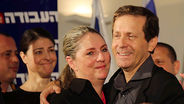 Herzog with wife Michal (Photo: Motti Kimchi)