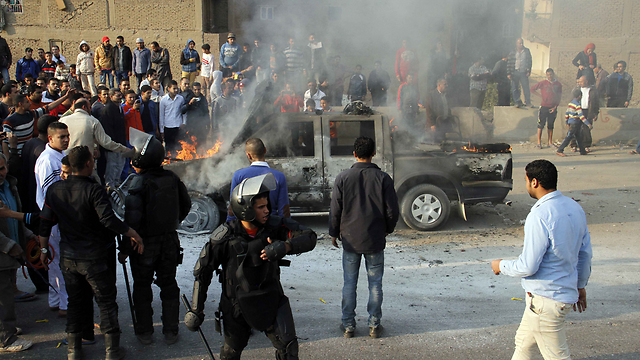 Friday clashes in Egypt (Photo: AFP)