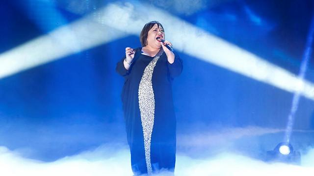 Rose performing at X-Factor this season (Photo: Tal Givoni)
