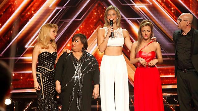 Moments before being crowned as X-Factor winner (Photo: Tal Givoni)