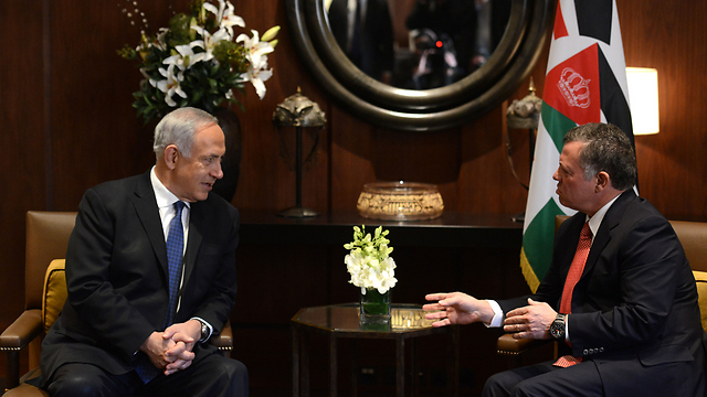 Prime Minister Benjamin Netanyahu and King Abduallah (Photo: Kobi Gideon, GPO )