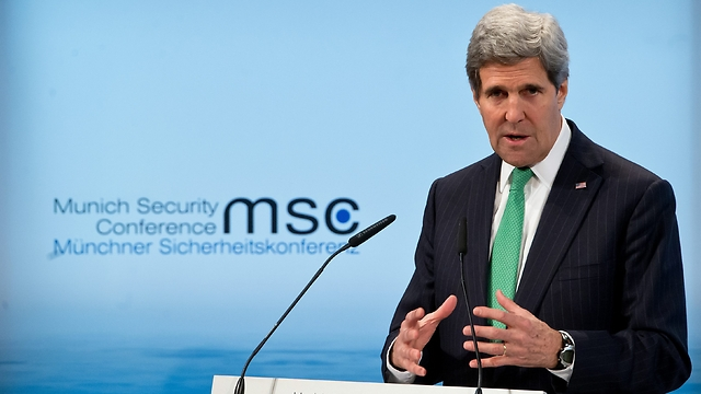 Kerry during speech, Saturday (Photo: Getty Images)