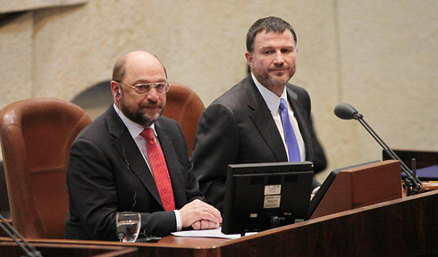 European Parliament President Schulz (Photo: Knesset Press Office) (Photo: Couresy of the Knesset)