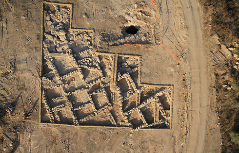 The excavated village (Photo: Skyview, courtesy of the Israel Antiquities Authority) (Photo: Skyview, courtesy of the Israel Antiquities Authority)