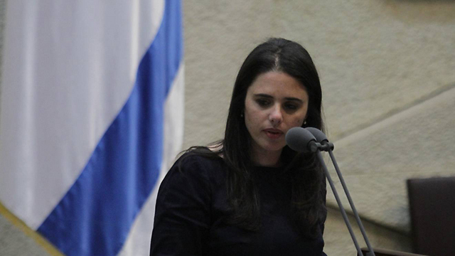 MK Ayelet Shaked led the initiative to override the High Court. (Photo: Gil Yohanan) (Photo: Gil Yohanan)