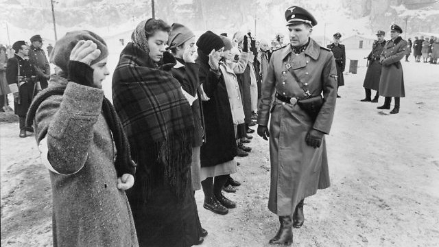 A scene from 'Schindler's List'