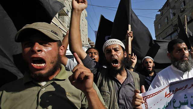 Salafi protest in Gaza (Photo: AP)
