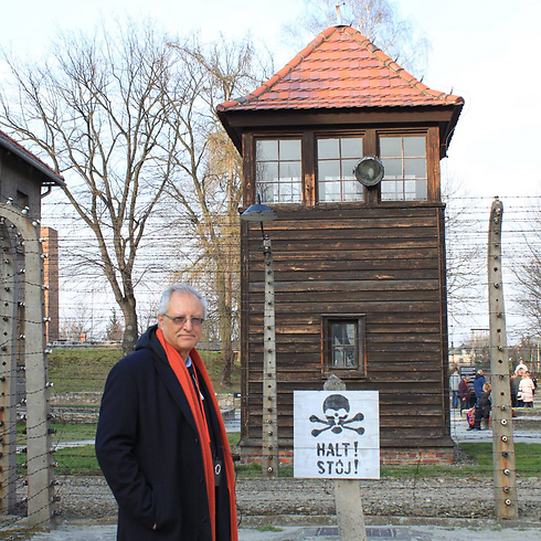Dr. Dajani Daoudi at Auschwitz concentration camp.