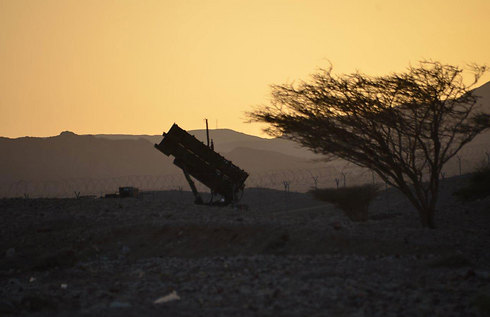 Iron Dome battery deployed in Eilat (Photo: Meir Ochion)