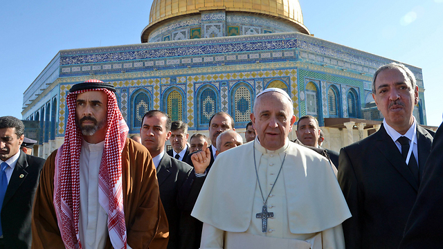 Pope at Temple Mount (Photo: Haim Zach, GPO)