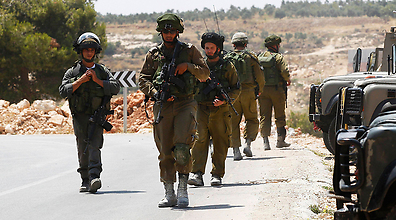 IDF troops searching for the missing teens in the West Bank (Photo: Reuters) (Photo: Reuters)