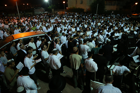Support rally in Elad, Eyal Yifrach's home (Photo: Shaul Golan)