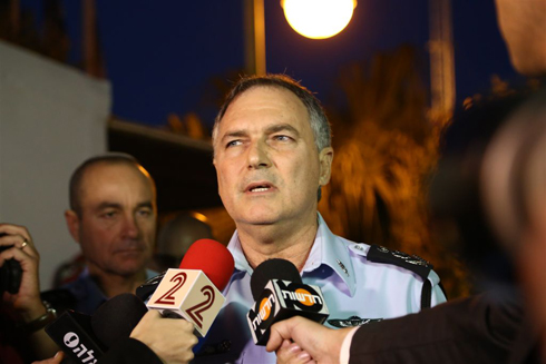 Danino speaking to journalists, refuses to respond to accusations (Photo: Ofer Amram)