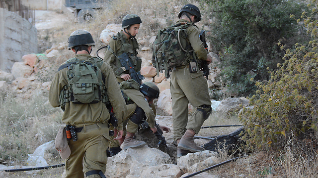 IDF forces near Hebron (Photo: IDF Spokesperson's Unit) (Photo: IDF Spokesperson's Unit)