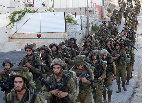 IDF troops search for boys (Photo: AFP) (Photo: AFP)