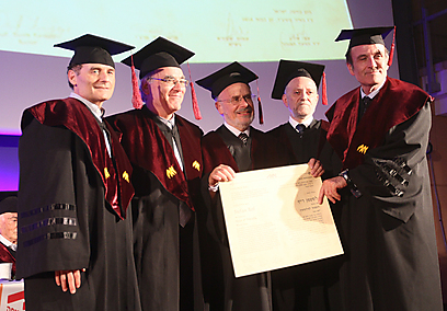 Prof. Reif awarded honorary doctorate of philosophy from University of Haifa (Photo: University of Haifa)
