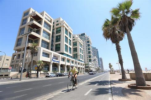Bike lane on renovated Tel Aviv promenade (Photo: Yaron Brenner)