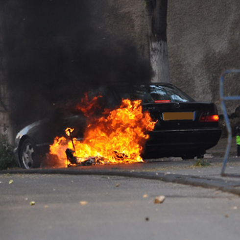 Cars torched in Nazareth (Photo: Alarab website) (Photo: Alarab website)