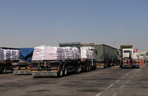 Goods delivered into Gaza during Operation Protective Edge (Photo: Herzl Yosef)