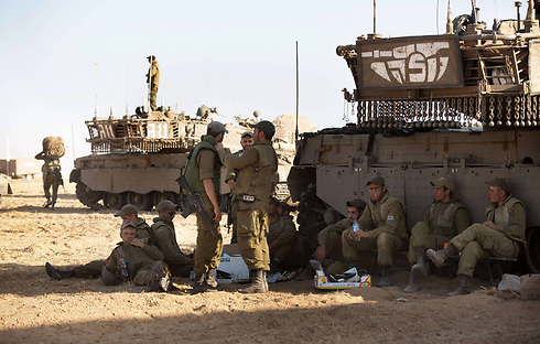 Armored Corps soldiers on the Gaza border (Photo: AFP)