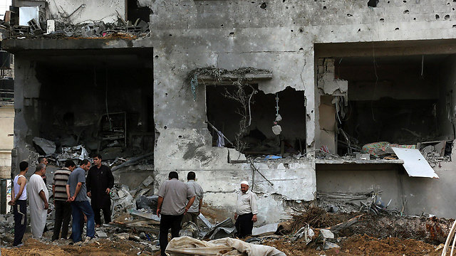 House bombed in Gaza during Operation Protective Edge (Photo: EPA) (Photo: EPA)