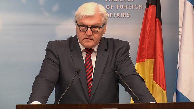 German Foreign Minister Frank-Walter Steinmeier. Fifty years after the 'reconciliation miracle,' Germany is intervening in the internal discussion over the Jewish state's Jewish character (Photo: Eli Mandelbaum)