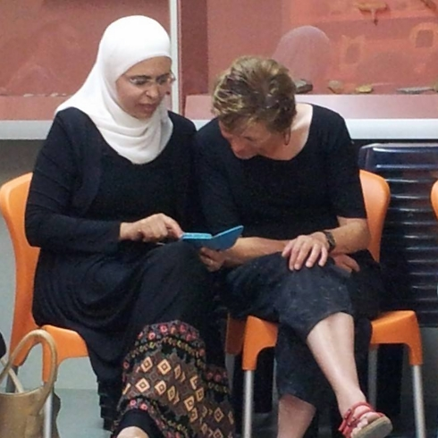 Muslims and Jews gather together in Kibbutz Ein Dor in the Jezreel Valley for the end-of-fast study session