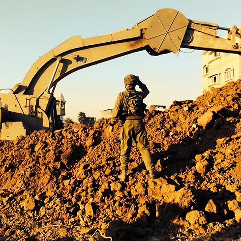 IDF Nahal Brigade troops expose and destroy tunnels during the Operation (Photo: IDF Spokesperson's Office)