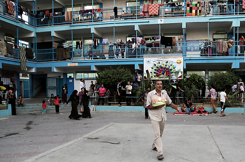 UNRWA school used as a shelter in summer 2014 (Photo: AP) (Photo: AP)